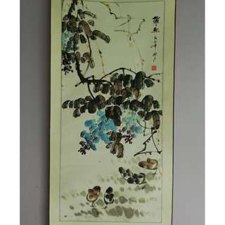 "Chinese Painting #16 Flowers & Chicks ""Zuo Qu"""
