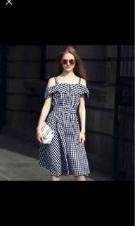 Checkered Dress with belt