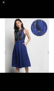 Love Bonito LB Bryssa Jacquard Midi Dress