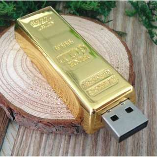 Gold Bar USB Flash Drive 64G
