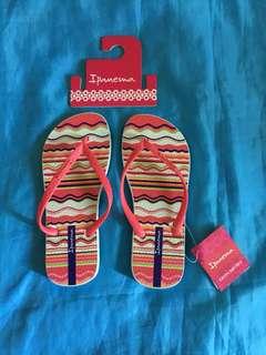 Authentic Ipanema slippers, flip flop, waves