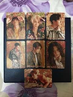 Super Junior Yes Card (7 Pieces)