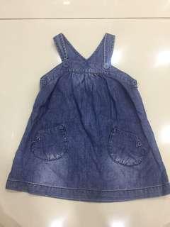 Authentic Zara baby denim dress