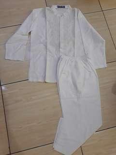 Baju Muslim Koko Putih Bordir
