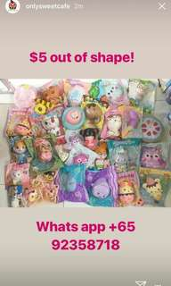 $5 out of shape squishies clearance