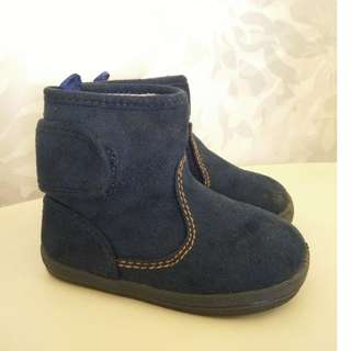 Casual Soft Mid-Top Toddler Boot (Dark Blue)