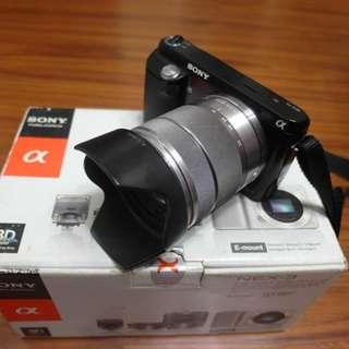 【出售】SONY NEX-F3 +18-55mm 微單眼相機 盒裝完整