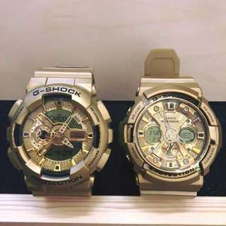 GSHOCK COUPLE GOLD WATCH