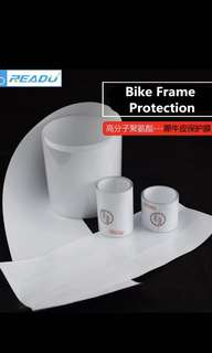 4 Pieces Mountain Bike Road Bike Frame Protection Sticker Transparent Paint Protective Film Glossy Surface