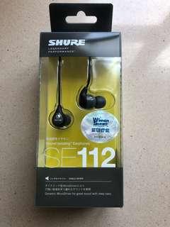 Shure SE112 earphones 全新耳機