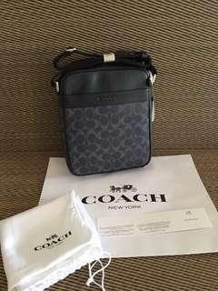 Original Coach Blue Signature Sling Bag