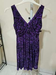 New Dress flower purple