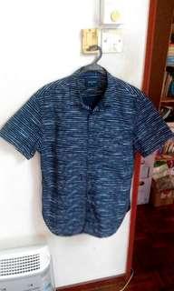 Rope Man Stripe Shirt (blue)