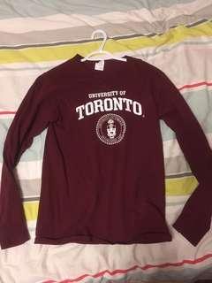 small UofT long sleeve shirt