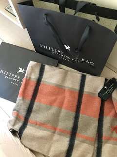French brand Philippe Le bac cashmere scarf 法國品牌cashmere 頸巾
