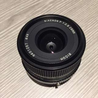 Ricoh 28mm f2.8 lens (wide angle) for Pentax