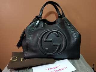 "Authentic Gucci ""Soho"" Medium Shoulder Leather Bag"