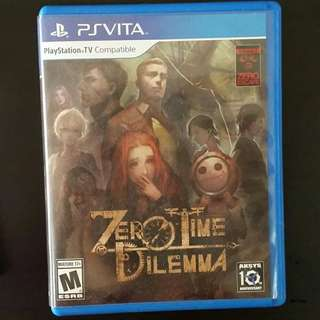PS Vita Zero Time Dilemma