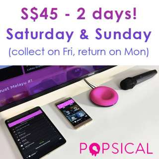Popsical Rental - World's smallest and smartest karaoke streaming device!