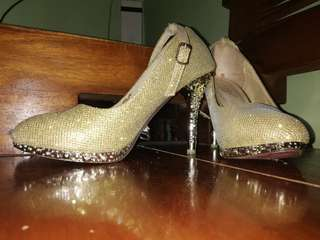 Two Sparkle High Heels