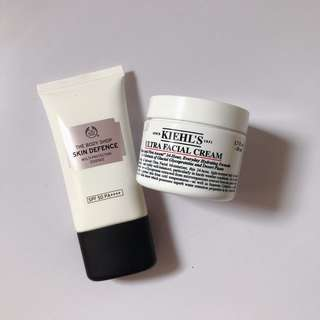 COMBO 3 : Kiehl's Ultra Cream & Body Shop Multi Essence