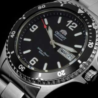 only hk$900, 100% new Orient Men's FAA02001B9 Mako II Analog Automatic Hand-Winding Silver Watch手錶