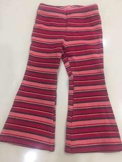 Pumpkin patch stripe pant