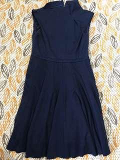 Baju terusan / dress biru gelap