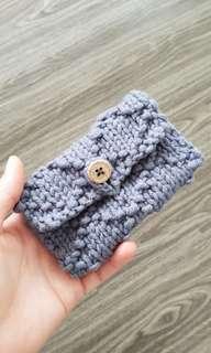 Handknitted pouch
