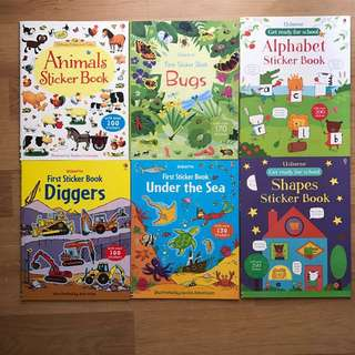 Brand New Usborne Sticker Books for Toddlers