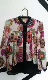 💕 Bohemian aztec design longsleeves blouse