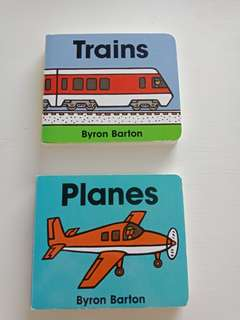 Planes and Trains Byron Barton children's book bundle