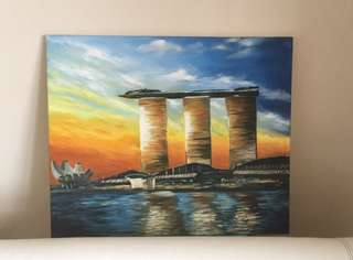 Hand painted Oil Painting (60 x 50cm)