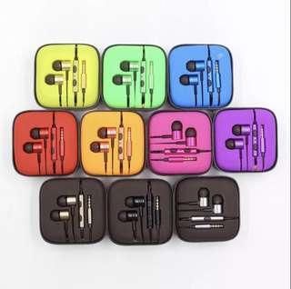 Aluminum Piston Earphone ( Multi colours )