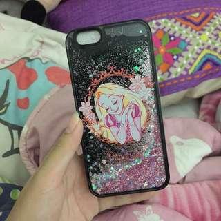 Case glitter rapunzel iphone 6/6s