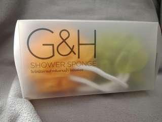 SATU PAKET G&H SHOWER SPONGE AND BODY WASH GEL (NOURISH AND REFERSH) AMWAY ASLI