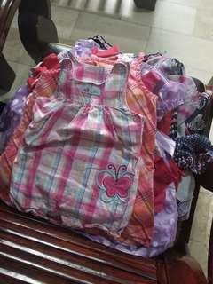 Bundle clothes branded tops,dress for baby girl