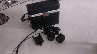 Canon A1 & wide angle&Bag