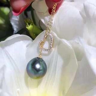 愛心扣 大溪地珍珠項鏈