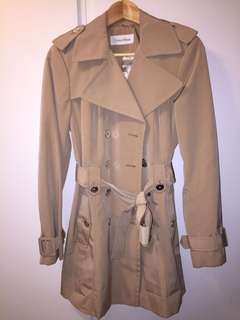 Calvin Klein beige trench coat belt正版杏色乾濕褸外套
