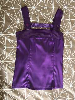 Purple Satin Top