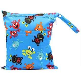 Little Monster Wet Bag / Diaper Bag