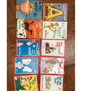 Dr Seuss set of 10 books