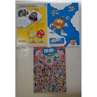 M&M's 絕版 postcard Set
