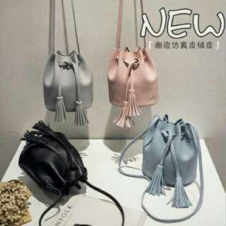 Korean tassel drawstring/shoulder bag