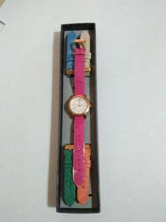 Tomato Watch with 5 straps
