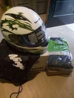Helm & jaket ninja