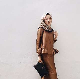 Bronze Kurung Set