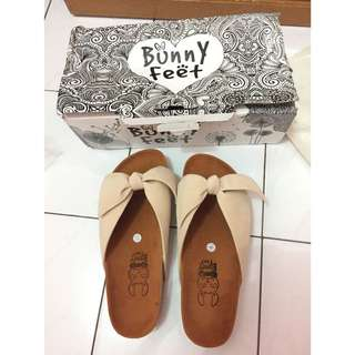 Sepatu Sendal Bunnyfeet Cream Size 36
