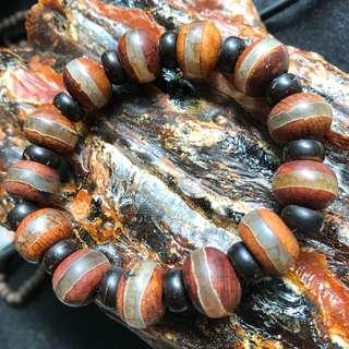 Dzi beads & Coconut shell